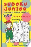libro Sudoku Junior - Sudoku Para Niños 4x4 - Volumen 4