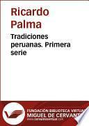 libro Tradiciones Peruanas I
