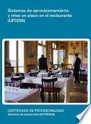libro Uf0258   Sistemas De Aprovisionamiento Y Mise En Place En El Restaurante