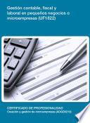 libro Uf1822   Gestión Contable, Fiscal Y Laboral En Pequeños Negocios O Microempresas