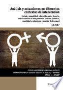 libro Uf2687   Análisis Y Actuaciones En Diferentes Contextos De Intervención