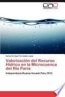 libro Valorización Del Recurso Hídrico En La Microcuenca Del Río Pari