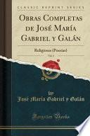 libro Obras Completas De José María Gabriel Y Galán, Vol. 4