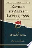 libro Revista De Artes Y Letras, 1889, Vol. 16 (classic Reprint)