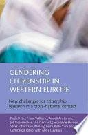 libro Gendering Citizenship In Western Europe
