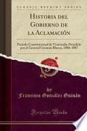 libro Historia Del Gobierno De La Aclamación