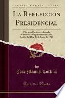 libro La Reelección Presidencial