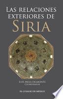 libro Las Relaciones Exteriores De Siria
