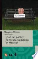 libro ¿qué Tan Público Es El Espacio Público En México?