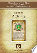 libro Apellido Ardanuy