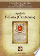 libro Apellido Solana.(cantabria)