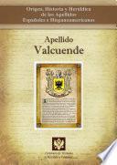 libro Apellido Valcuende