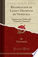 libro Recopilacion De Leyes Y Decretos De Venezuela, Vol. 19