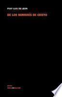 libro De Los Nombres De Cristo