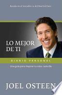 libro Lo Mejor De Ti Diario Personal / Become A Better You Journal
