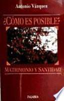 libro Matrimonio Y Santidad.