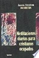 libro Meditaciones Diarias Para Cristianos Ocupados