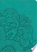 libro Nvi Biblia Compacta Letra Grande Aqua, Símil Piel Con índice