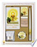 libro Primer Libro De La Misa Deluxe Girl Set [with Taper Candle, Rosary, Communion Supplies]