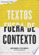 libro Textos Fuera De Contexto