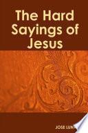 libro The Hard Sayings Of Jesus