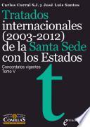 libro Tratados Internacionales (2003 2012) De La Santa Sede Con Los Estados