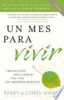 libro Un Mes Para Vivir