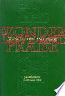 libro Wonder, Love, And Praise