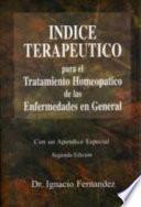 libro Indice Terapeutico