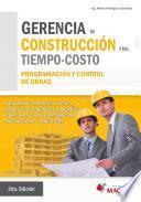 libro Gerencia De Construcción Y Del Tiempo   Costo