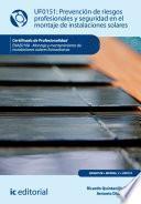 libro Prevención De Riesgos Profesionales Y Seguridad En El Montaje De Instalaciones Solares. Enae0108
